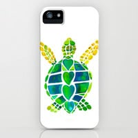 Turtle Love iPhone & iPod Case by Catherine Holcombe