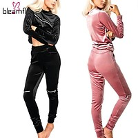 Winter Autumn Tracksuit for Women 2 Piece Set Top Hoodies Pants two Pieces Sport Suit Velvet Clothing Casual outfit Pullover