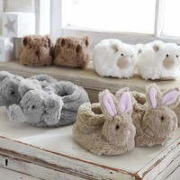 Nursery Fur Animal Slippers | Pottery Barn Kids