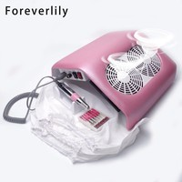48W 2in1 Vacuum Grinding Combo Combination Strong Power Electric Drilling Machine Nail Dust Collector Manicure Nail Art Machine