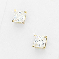 Large Cubic Zirconia Stud Earrings