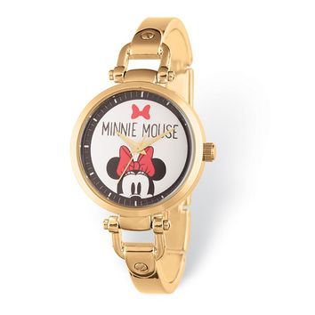 Disney Adult Size Minnie Mouse Gold-Tone Bracelet Watch