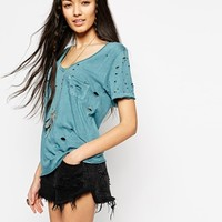 Free People Destroyed Tommy T-Shirt