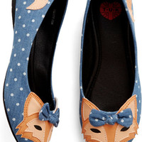 ModCloth Quirky Clever So Sweet Flat in Denim