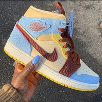 NIKE Air jordan 1 AJ1 woman mem sneakers Shoes