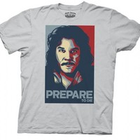 The Princess Bride Hope Poster Prepare to Die Inigo Silver Gray Adult T-shirt - The Princess Bride - | TV Store Online