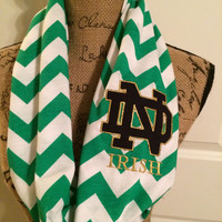 Kelly Green Notre Dame Infinity Scarf