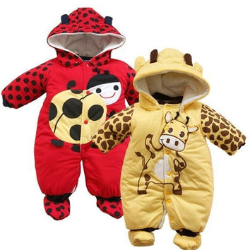 Cotton Romper Jumpsuit for Infant Baby Boy Girl Newborn to 9 Months Autumn Winter Cartoon Clothing Sets