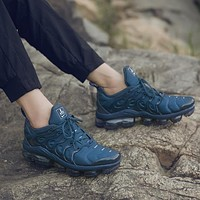 Nike Air Max Vapormax Plus TN Atmospheric Cushion Charm Blue Fashion Personality Men's and Women's Casual Sports Shoes Running Shoes