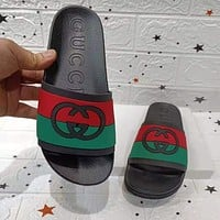 GG new men's and women's flat slippers shoes