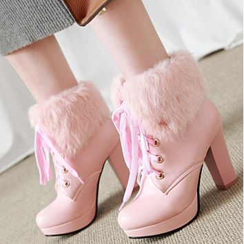 Hot style is a hot seller with thick heels, high heels, short heels and versatile Martin boots shoes