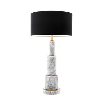 Stacked White Marble Table Lamp | Eichholtz Dax