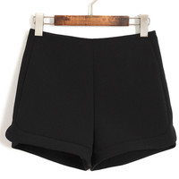 Wide Leg Shorts with Lining
