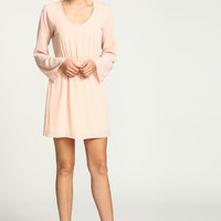Blush Embroidered Floral Bell Dress - LoveCulture