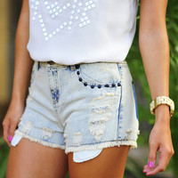 Studded With Love High Waisted Shorts | Hope's