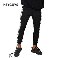 Sweatpants with long Ties  Hip Hop high street Trousers Pants Men Joggers high quality