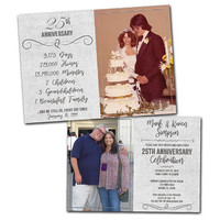 25th Anniversary Invitations - Silver Wedding Anniversary Party Invitation We Still Do - Then and Now Photo Invites - 25th Wedding - Photos