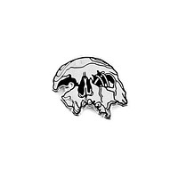 Crushed Skull Pin