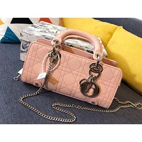 Dior Newest Popular Women Leather Handbag Tote Crossbody Shoulder Bag Satchel