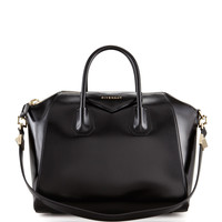 Antigona Medium Leather Satchel Bag, Black - Givenchy