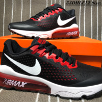 HCXX N123 Nike Zoom Vapormax Flyknit Flymesh Breathable Fashion Running Shoes Black Red
