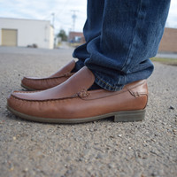 Circuit Slip On_Mocc Toe by Hush Puppies {Tan Leather} | HM1021-235