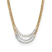 "18""-20"" Triple Strand 12/20 Gold Filled Rope Necklace with Beads"