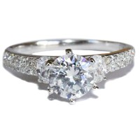 Diamond Promise Ring Front - Beautiful Promise Rings