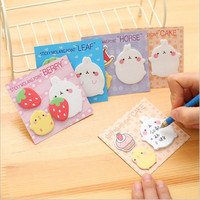 Kawaii 4 Different Memo Pads Sticky Notes Post It Office Stationery and School Supplies Diary Stickers Scrapbooking Planner
