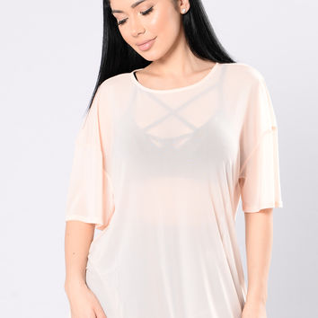 All About It Tunic - Nude