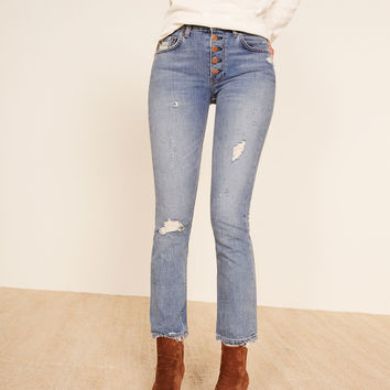 Winona Mid Slim Jean With Button Fly