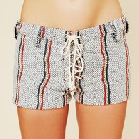 Free People Spicoli Stripe Stubblies Shorts