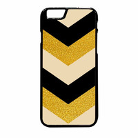 Chevron Classy Black And Gold Printed iPhone 6 Plus Case
