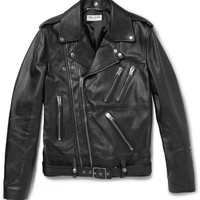 Saint Laurent - Leather Biker Jacket | MR PORTER