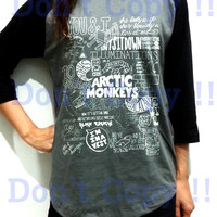 Arctic Monkey Band Unisex Men Women Dark Gray Long Sleeve Baseball Shirt Tshirt Jersey
