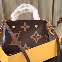 LV Retro Simple Presbyopia Women's Handbag Shoulder Messenger Bag