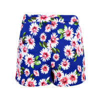 Macey Floral Print Highwaisted Crepe Shorts