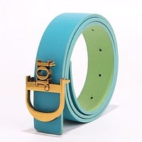 DIOR Fashion new product letter gold buckle temperament belt