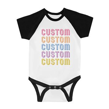 Colorful Multiline Text Perfect Baby Personalized Baseball Shirt