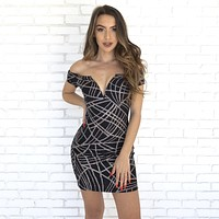 Aria Glitter Party Dress
