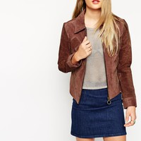 ASOS Suede Jacket With Contrast Panels