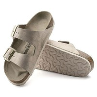 DCCK1 Birkenstock Arizona Suede Leather Washed Metallic Rose Gold 1008799/1008800 Sandals