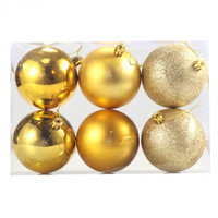 New 6Pcs 78mm Acrylic Polishing Sequins Matte Christmas Tree Decor Hanging Ball Party Festival Supplier