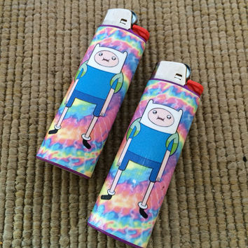 Psychedelic Finn the Human Adventure Time Lighter