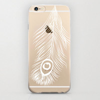 Peacock Feather iPhone 6 Case Unique Clear Apple iPhone6 Covers and Protectors Hippie Bohemian Simple Phone Cover Cell Phone Case Clear
