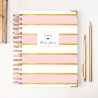 2018 Classic Planner – Blush Stripes