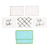 kate spade new york 'hello darlin' note card set - White