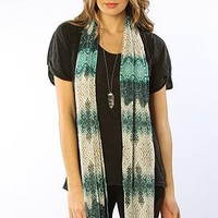 Accessories Boutique The Wrapped up Snake Print Scarf in Green