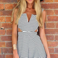 Backless High Waist Mini Dress