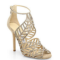 Jimmy Choo - Kallai Jeweled Suede Sandals - Saks Fifth Avenue Mobile